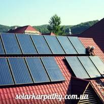 14 солнечных коллекторов (1200литров ГВС), пгт Чинадиево, Мукачевский район,