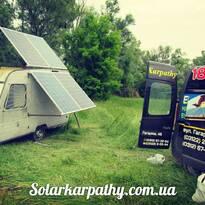 4 солнечные батареи, 1кВт мобильная электростанция