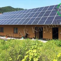 Сетевая солнечная электростанция мощностью 30 кВт (84 панели), «Зеленый» тариф, с. Новоселица, Тячевский р-н