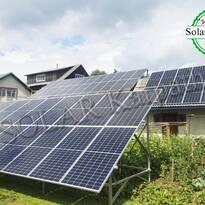 Сетевая солнечная электростанция, мощность — 30 кВт (84 панели), «Зеленый» тариф, пгт. Межгорье, Межгорский р-н