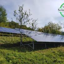 Наземная сетевая солнечная электростанция, мощность — 30 кВт, пгт. Межгорье, Межгорский р-н