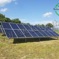 """Наземная сетевая солнечная электростанция мощностью 30 кВт (54 панели), """"Зеленый"""" тариф, с. Коноплевцы Мукачевский р-н"""