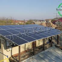 Сетевая солнечная электростанция — 15 кВт (26 панелей), «Зеленый» тариф, г. Мукачево