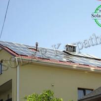 """Сетевая солнечная электростанция мощностью 10 кВт (40 панелей), гелиосистема (4 солнечных коллектора), """"Зеленый"""" тариф, г. Ужгород"""