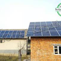 "Сетевая солнечная электростанция мощностью 30 кВт (123 панели), ""Зеленый"" тариф, с. Н. Селище, Хустский р-н"