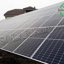 Наземная сетевая СЭС: 30 кВт*ч, 80 панелей, «Зеленый» тариф, г. Ужгород