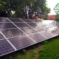 Сетевая солнечная электростанция мощностью 20 кВт (74 панели), с. Розовка, Ужгородский р-н