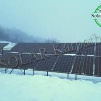Наземная сетевая СЭС мощностью 30 кВт (104 панели), «Зеленый» тариф, с. Дулово, Тячевский р-н