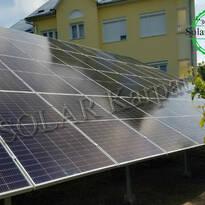 """Сетевая солнечная электростанция мощностью 25 кВт (56 панелей) под """"Зеленый"""" тариф, г. Ужгород"""