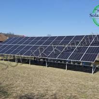 Наземная сетевая солнечная электростанция мощностью 15 кВт (26 панелей) под «Зеленый» тариф, с. Великие Лазы, Ужгородский р-н