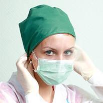 Медичні маски тришарові
