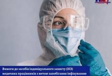 Вимоги до засобів індивідуального захисту(ЗІЗ) медичних працівників з метою запобігання інфікуванню COVID-19