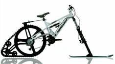 Ktrak - революционное превращение велосипеда в снегоход!