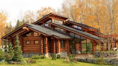House from wild-log. Aesthetics and comfort!