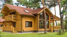 """The house from wood. Say """"no"""" to urbanization!"""