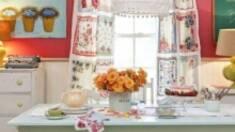 Советы по декорированию интерьера кухни:вышивка натюрморт на кухню.