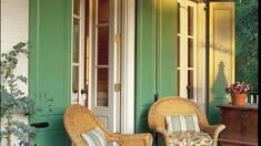 Стиль Кантри в интерьере, подчеркнет плетеная мебель