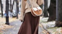 Плиссированная юбка миди: топ-3 осенние тренды!