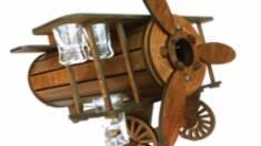 Новинка в каталоге — деревянный мини бар самолет!