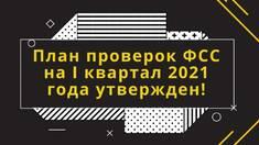 План перевірок ФСС на 2021 рік затверджено!