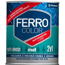 """Фарба антикорозійна """"Ferro Color"""" матова сіра 0,75л."""