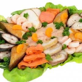 Різні рибні та морепродукти