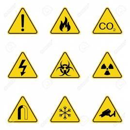 Предупреждающие знаки и таблицы