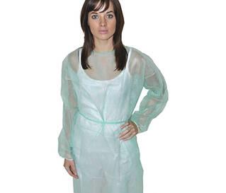 Халат нетканний на зав'язках зелений або блакитний(фото)