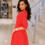 Женское платье 21124 красный принт