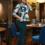 Жіночий костюм 20420 зелений принт