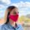 Маска для лица защитная многократная Красочная Вышиванка, 100% лен, S (21х10х5 см)