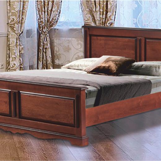 """Розкішне двоспальне ліжко з дерева купуйте у """"Меблі Закарпаття""""."""