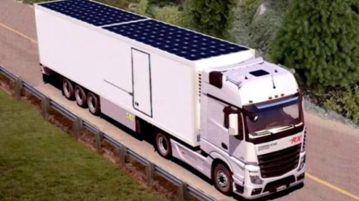 Німецькі компанії встановлюватимуть сонячні батареї на дахи вантажівок для економії палива