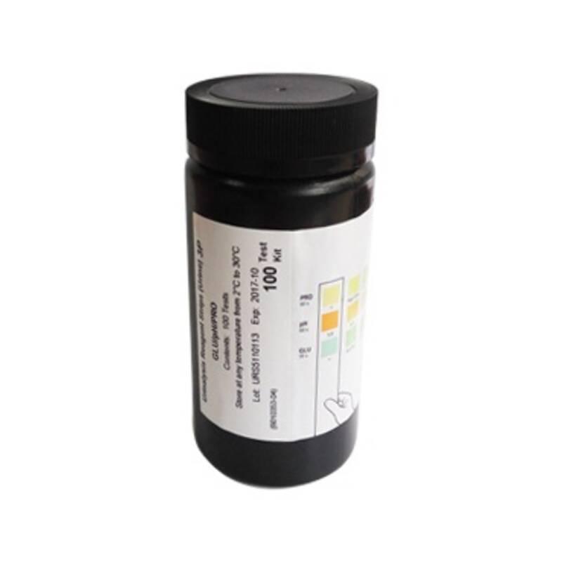 Тест-смужки для аналізу сечі 14 параметрів (уробіліногена  глюкози  білірубіну  кетонів  крові  pH  білку  нітритів  питомої ваги  лейкоцитів  аскорбінової кислоти), №100