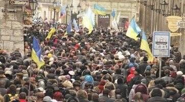 Львовские предприниматели подошли к акции протеста творчески