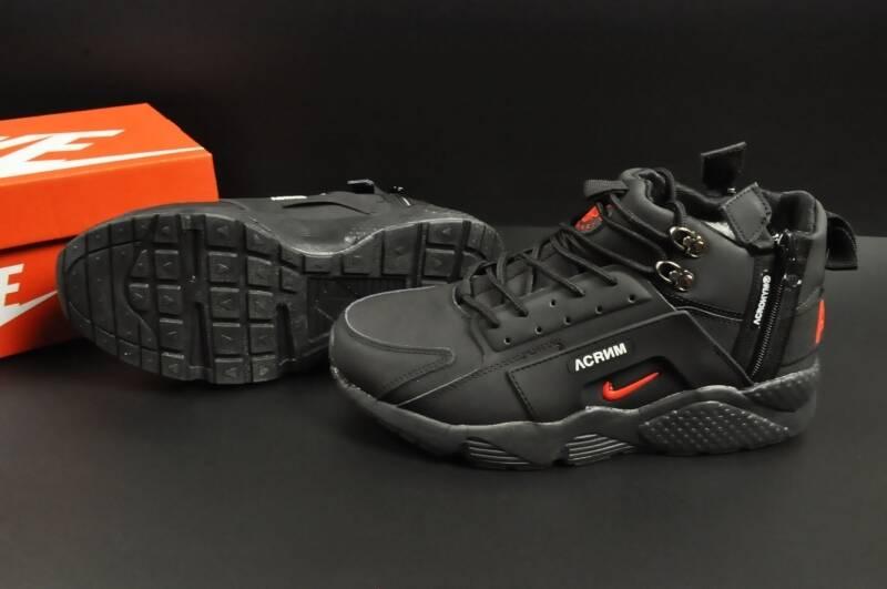 Nike Air Huarache арт 20674 (зимние, мужские, черные) За Найнижчою Ціною-Гарантія Низької ціни