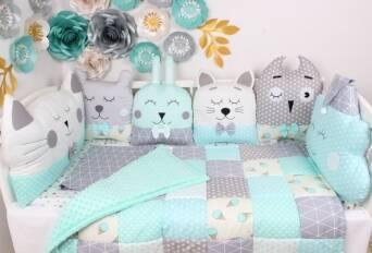 Оригінальні бортики в дитяче ліжечко виготовляємо під замовлення!