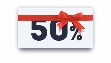Знижка 50% на кожний 2-й товар!