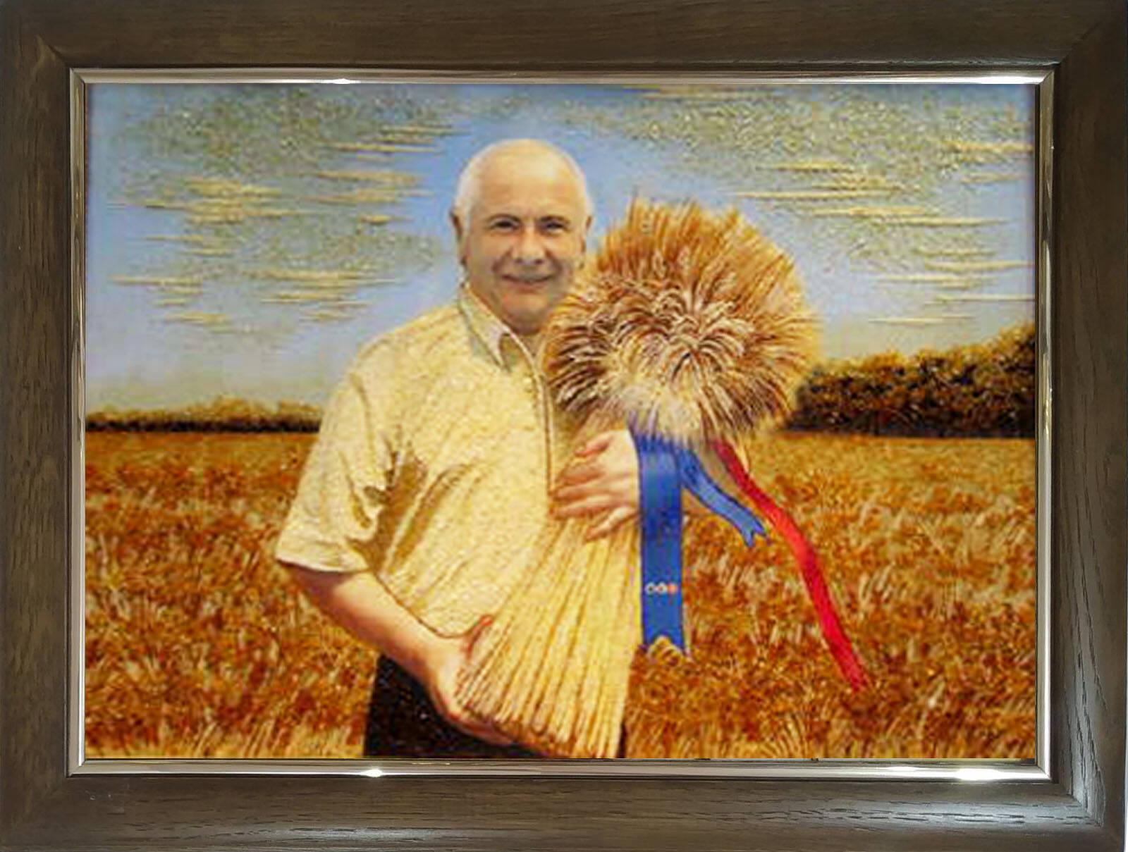 Портрет из янтаря Украина (фото)