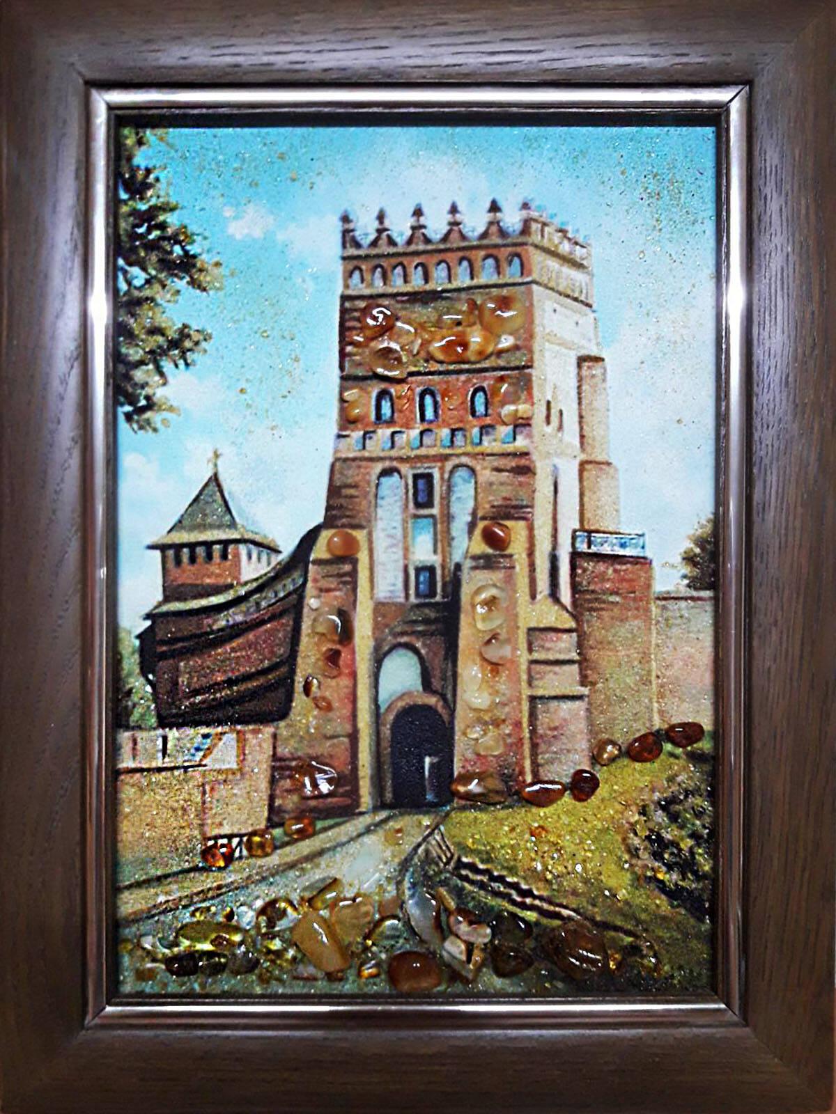 Замок Любарта из янтаря (фото)