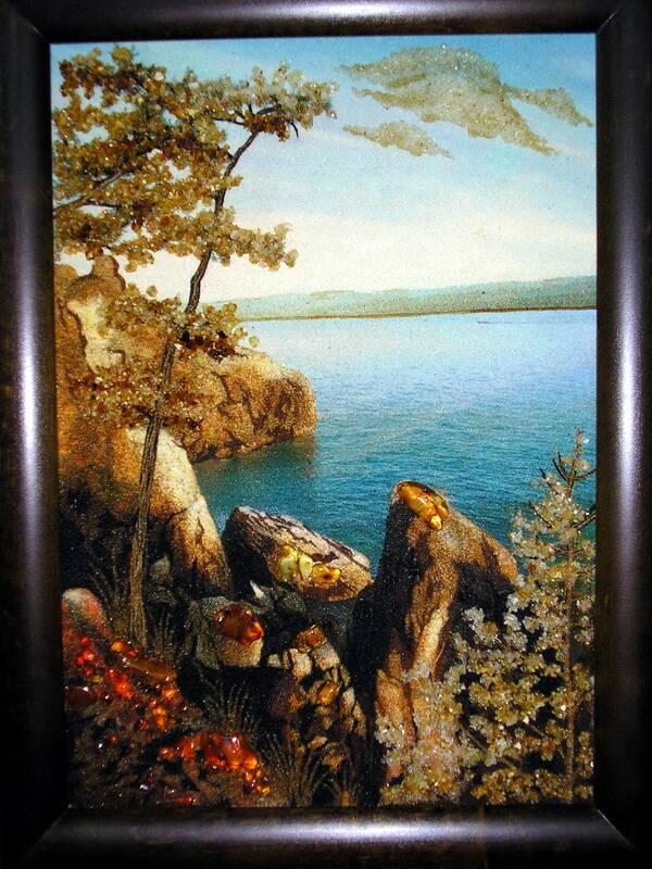 Картина из янтаря (берег)