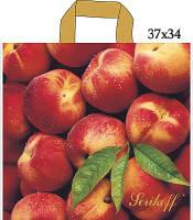 Полиэтиленовый пакет с петлевой ручкой Персики