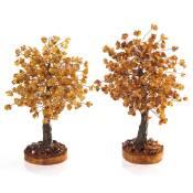 Бурштинові сувенірні дерева (фото)