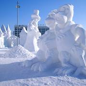 Скульптуры из снега Киев