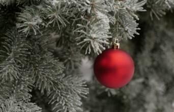 Акція! При купівлі литої ялинки - новорічний віночок в подарунок!